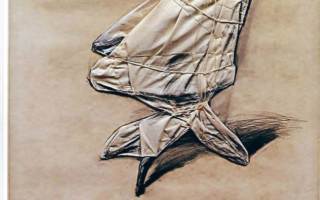 Christo venduta Wrapped office chair (Projet), 1973, 71x56