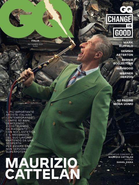 """Maurizio Cattelan compie oggi 60 anni e diventa ambasciatore della campagna di GQ """"Change Is Good"""""""