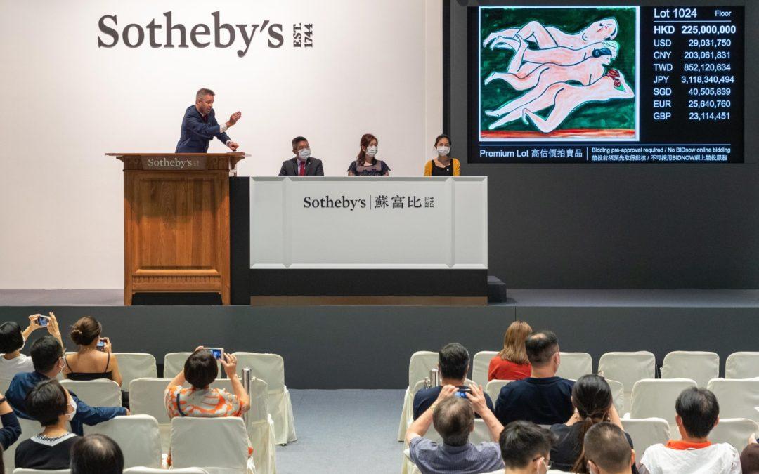 Gli artisti Zao Wou-Ki e Sanyu hanno dominano le vendite di Hong Kong questa estate