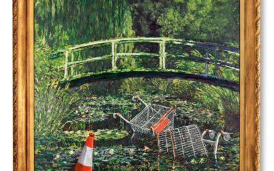 Dipinto di Banksy ispirato a Monet venduto a 7,6 milioni di sterline