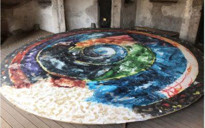 """Il """"Cosmo e gli elementi"""", la grande tela laica di Schifano da domani al Teatro Basilica di Roma"""