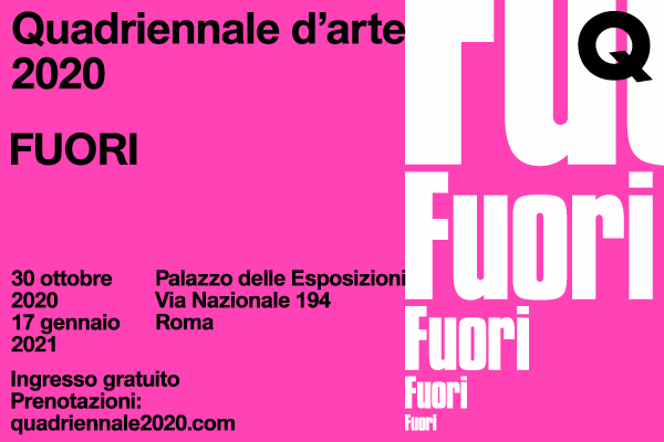 """""""FUORI"""" a Roma la quadriennale d'arte 2020"""